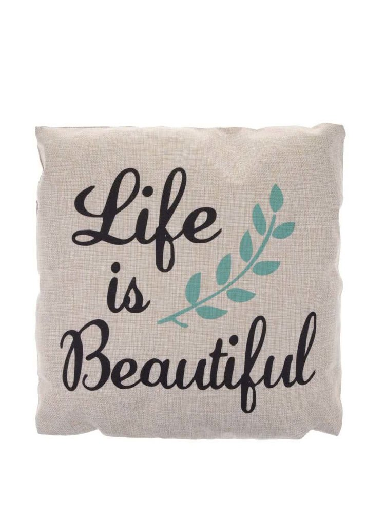 Pernă Life is Beautiful crem de la Sass & Belle
