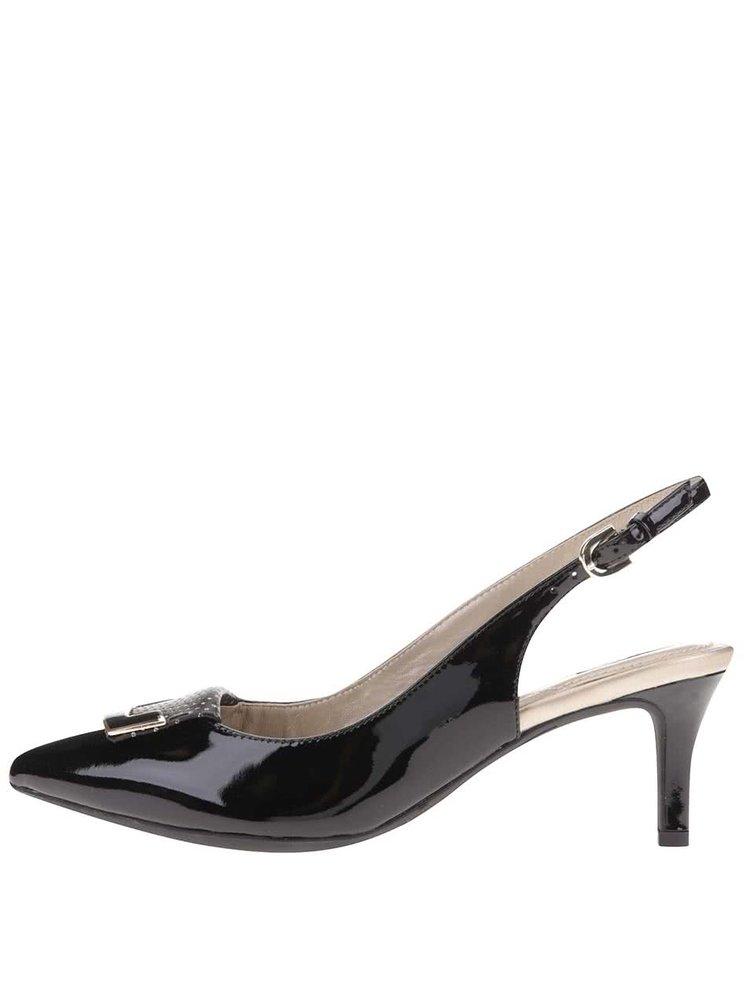 Sandale din piele cu toc Geox Elina - negru