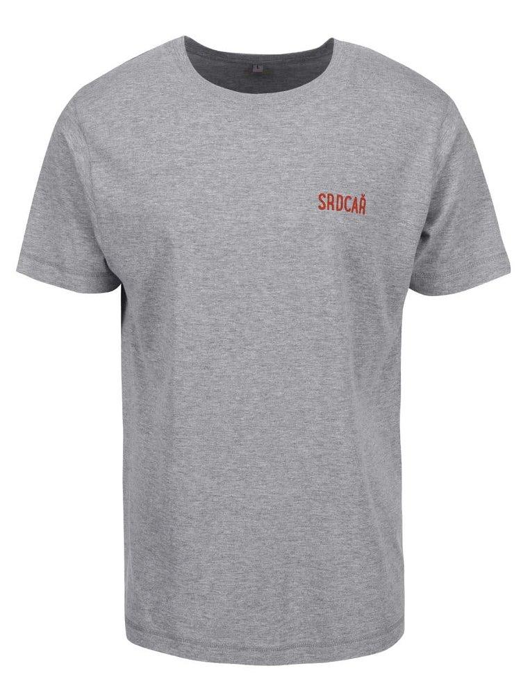 Šedé pánské triko ZOOT Originál Srdcař