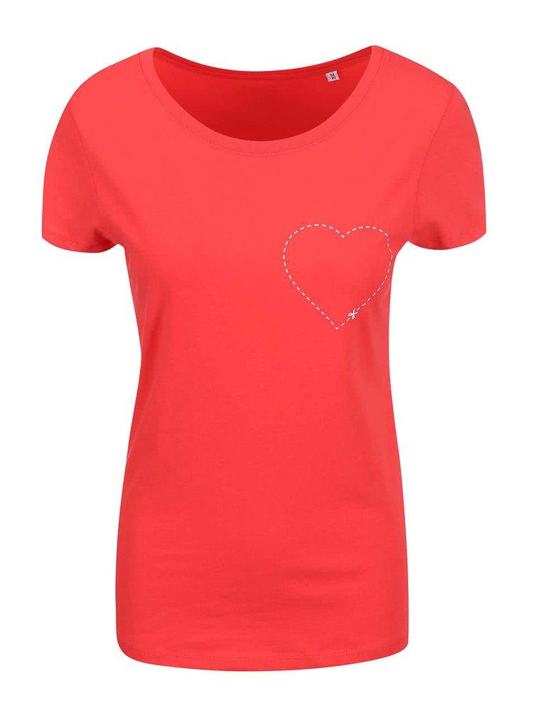 Červené dámske tričko ZOOT Originál Cut-out