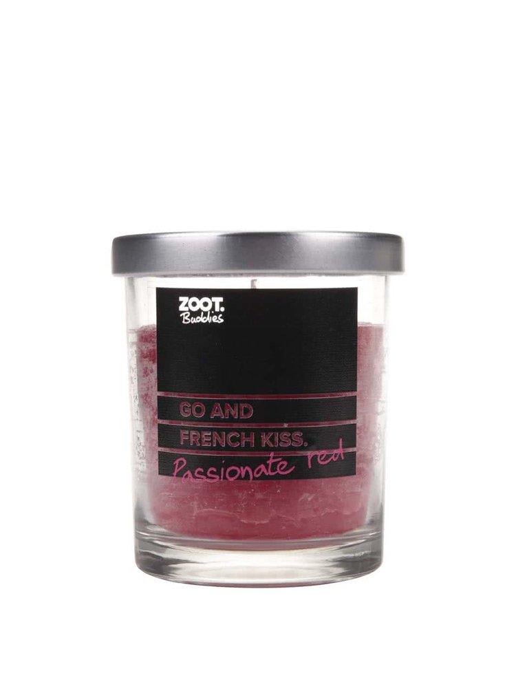 Lumânare ZOOT Buddies cu parfum  de coacăze, în recipient de sticlă
