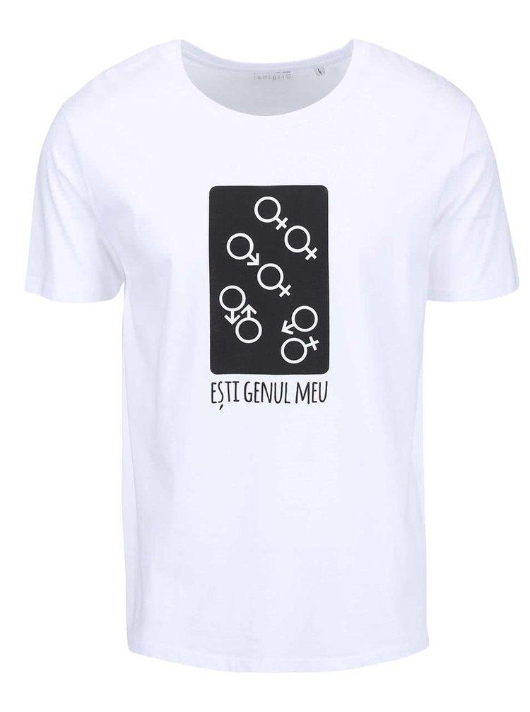 Bílé pánské triko ZOOT Originál Esti Genu Meu
