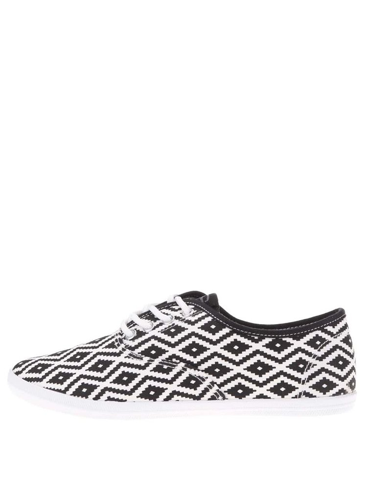 Pantofi sport negru și alb Tamaris