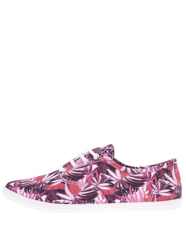 Pantofi sport roz cu imprimeu Tamaris