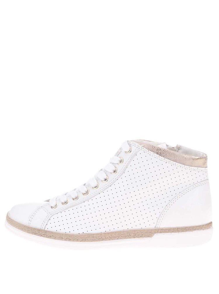 Pantofi sport crem din piele cu fermoar TAMARIS