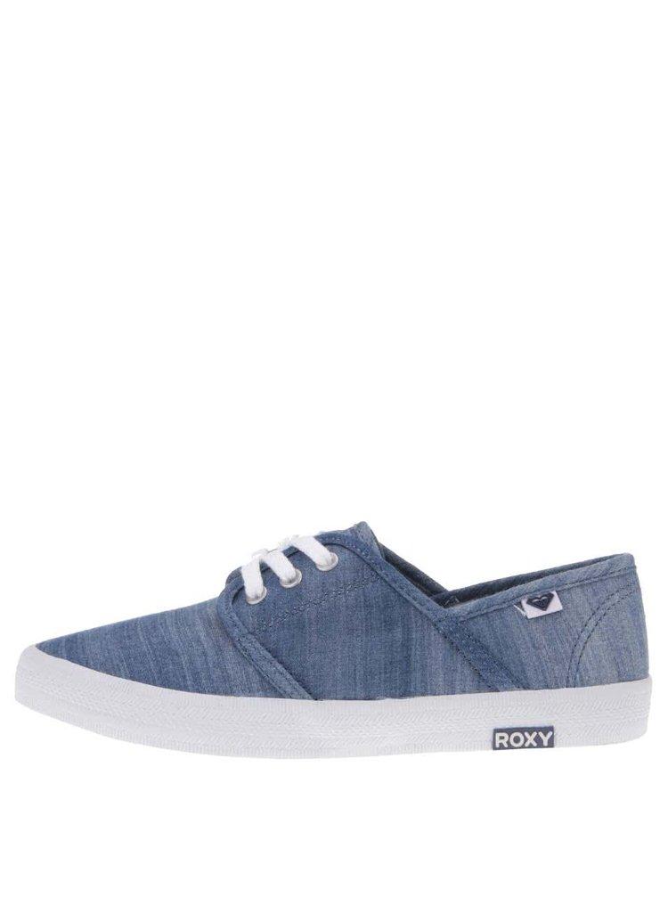 Pantofi sport albaștri din denim Roxy Hermosa II