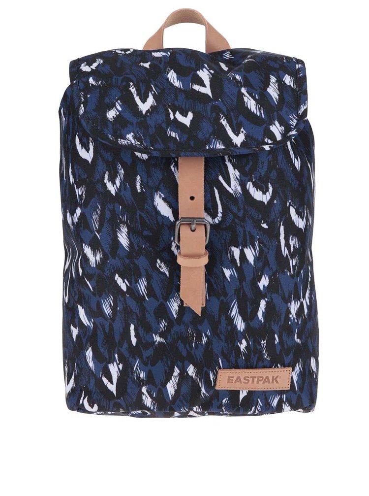 Modro-čierny vzorovaný dámsky batoh Eastpak Krystal