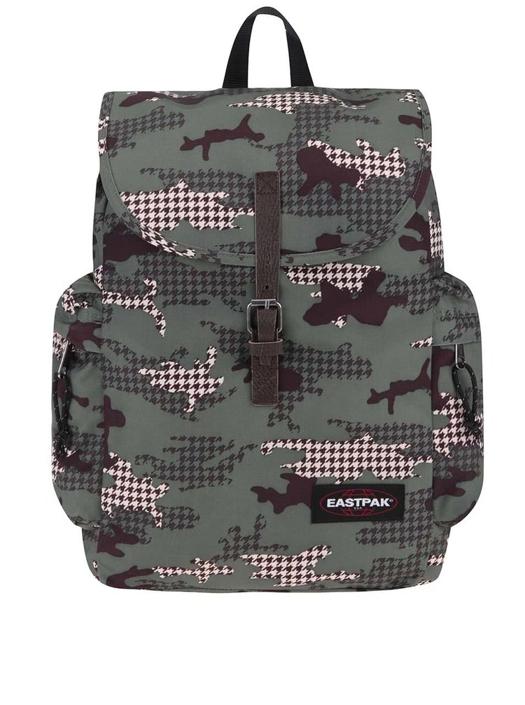 Tmavě zelený vzorovaný batoh Eastpak Austin