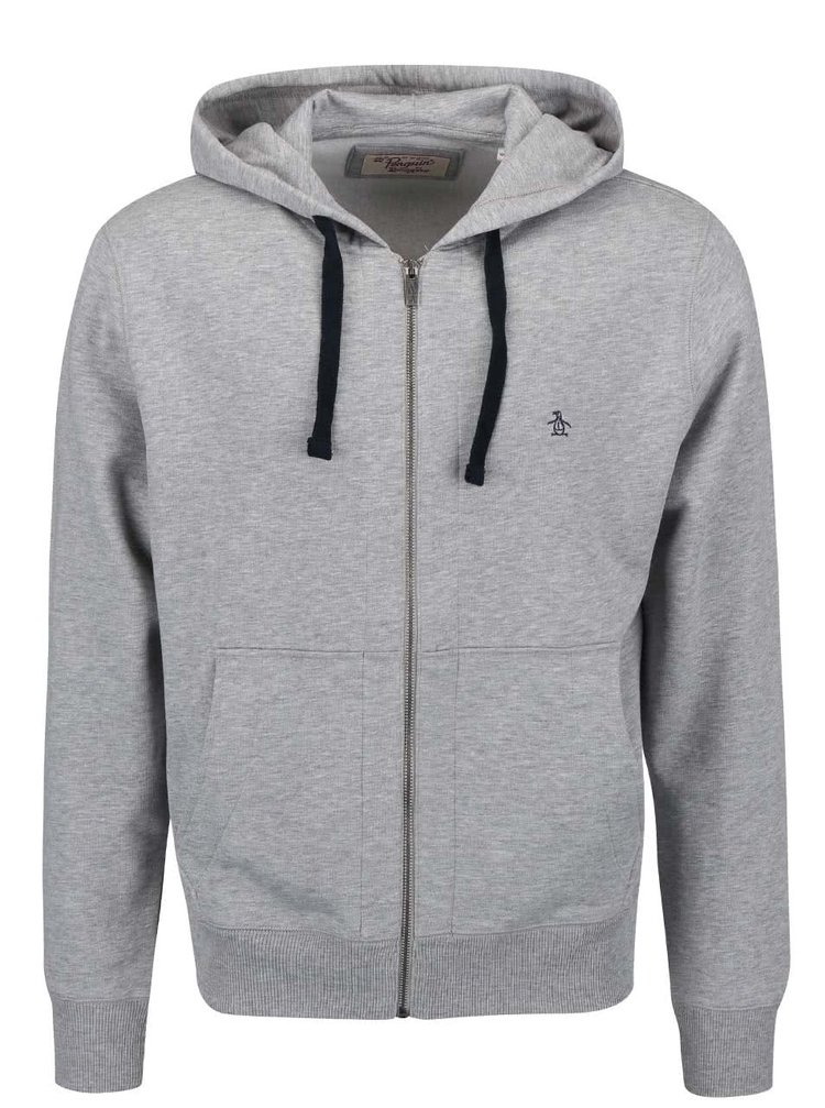 Sivá mikina na zips Original Penguin Secret Sam