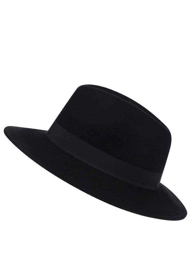 Černý vlněný klobouk Pieces Tul