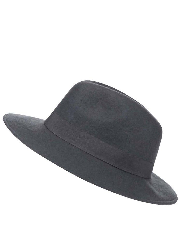 Pălărie de lână gri Pieces Tul