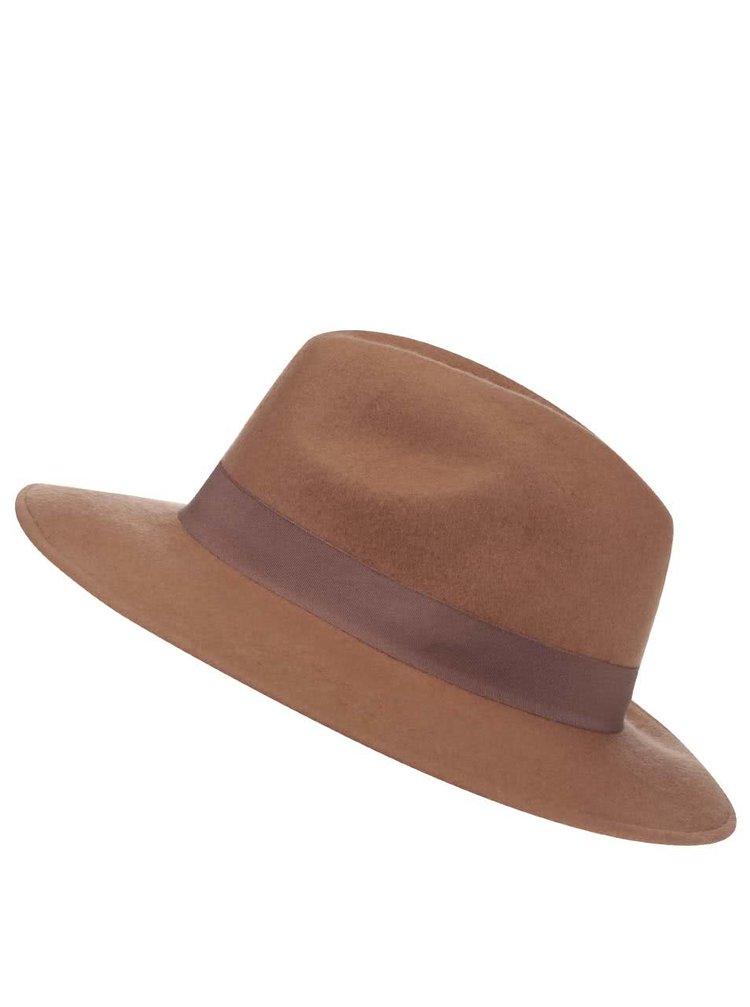 Hnědý vlněný klobouk Pieces Tul