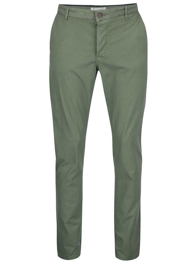 Pantaloni chino verzi ONLY & SONS Sharp