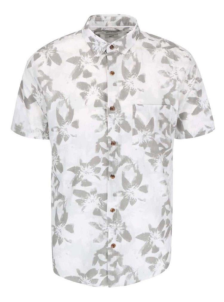 Krémová kvetovaná košeľa s krátkym rukávom ONLY & SONS Abbe
