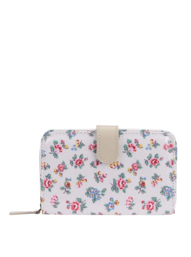 Bílá peněženka s barevnými květy Cath Kidston