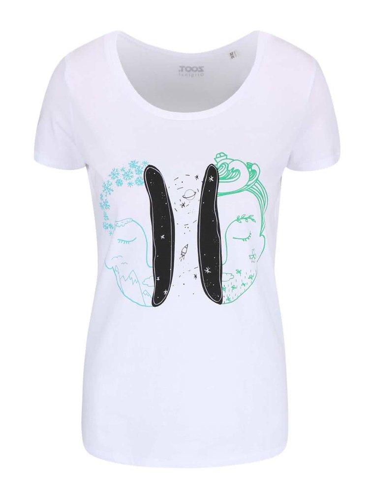 Biele dámske tričko ZOOT Originál Universe