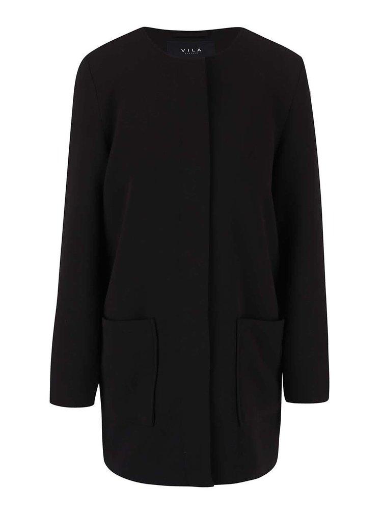 Palton negru VILA Vicory