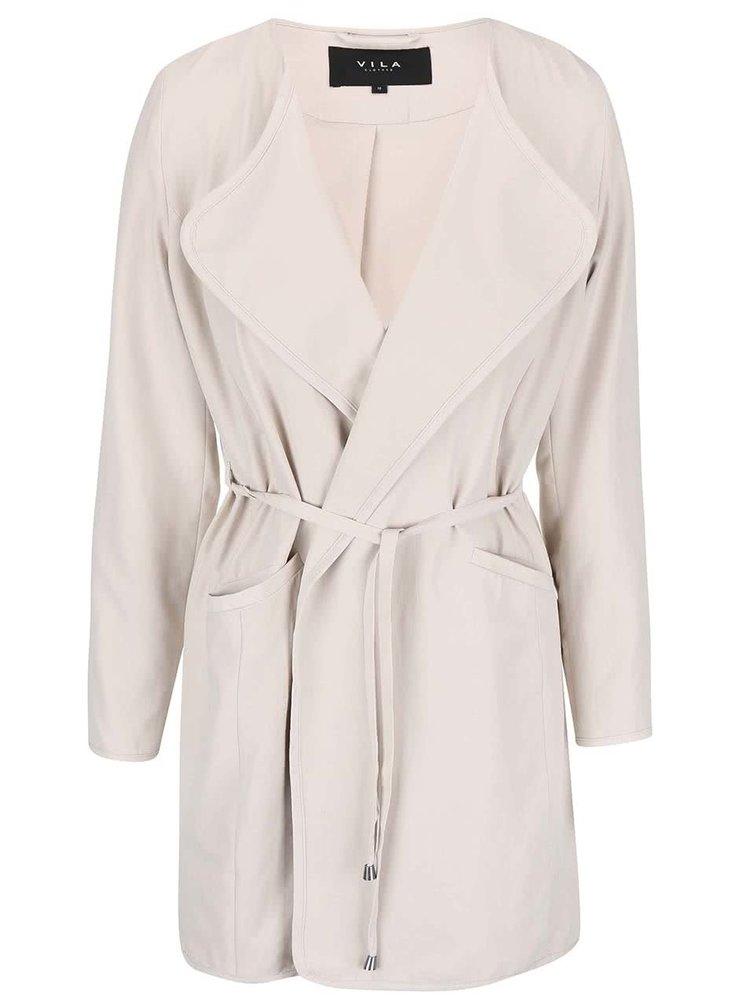 Krémový kabát VILA Emmely