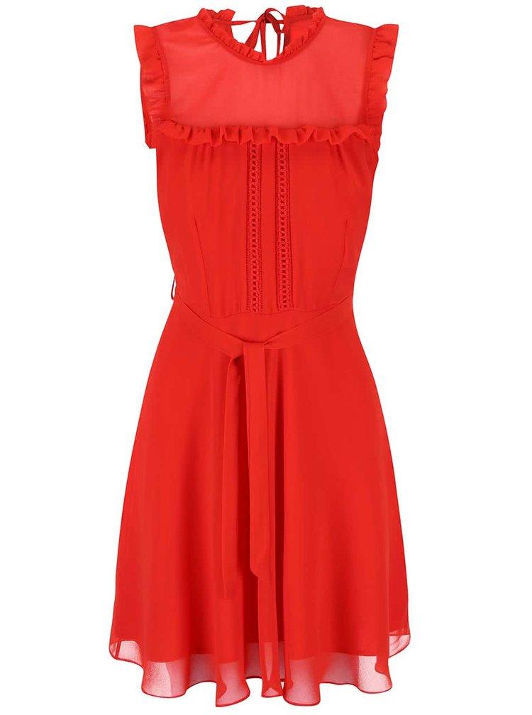 Červené šifonové šaty Dorothy Perkins
