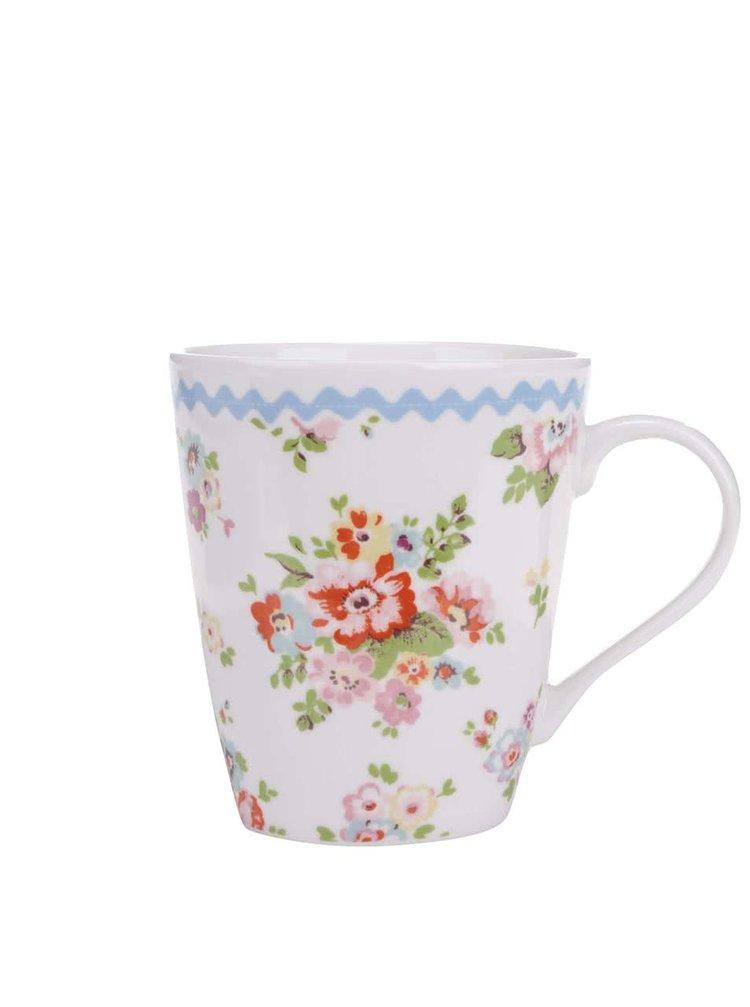 Biely kvetinový hrnček Cath Kidston