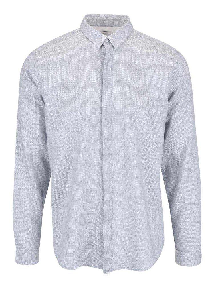 Šedá pruhovaná košile Selected Homme Alte