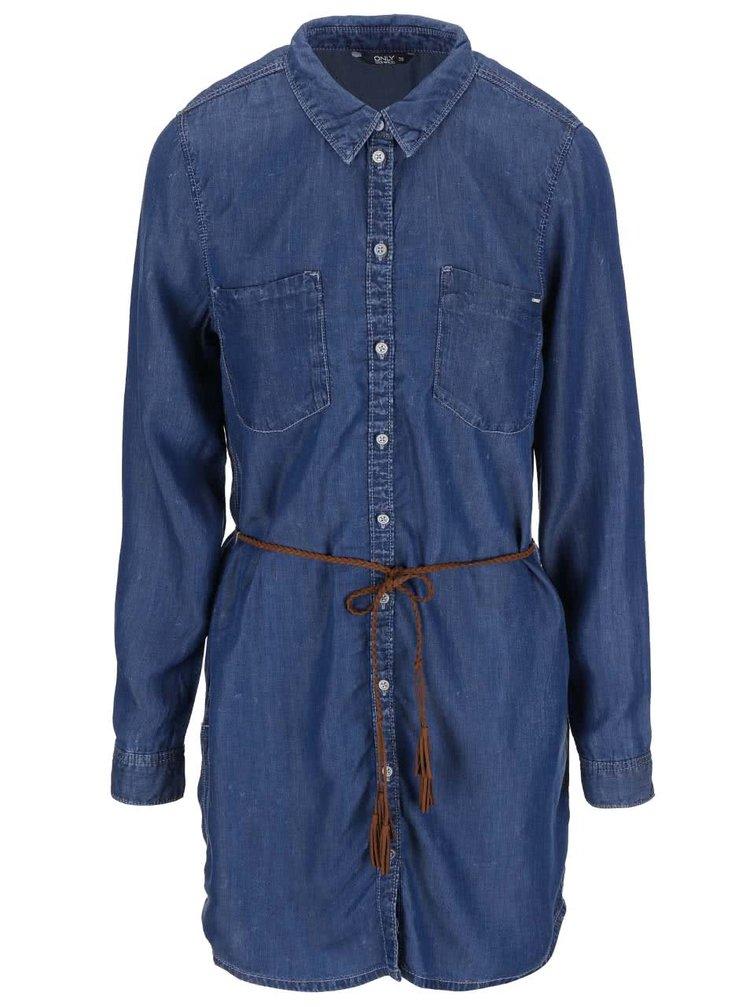 Modré džínové šaty ONLY Henna