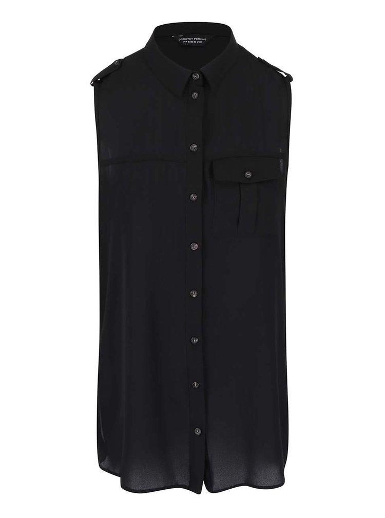 Bluză neagră fără mâneci Dorothy Perkins
