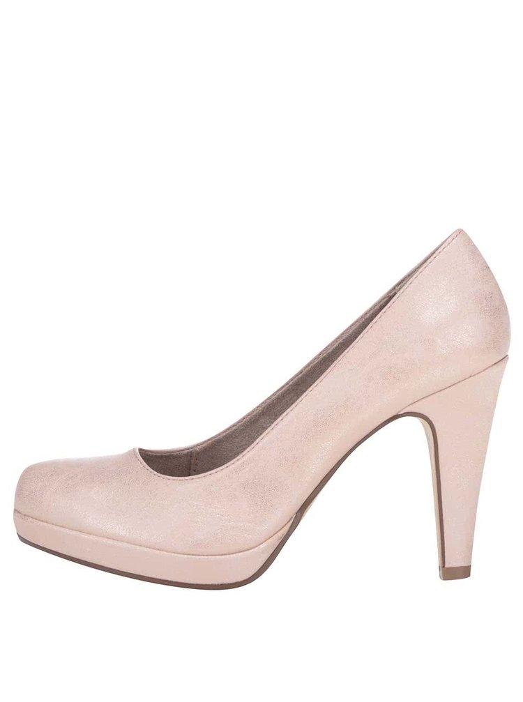 Pantofi cu toc Tamaris roz lucioși