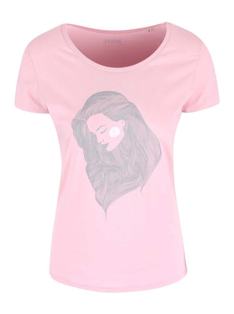 Růžové dámské tričko ZOOT Originál Hair