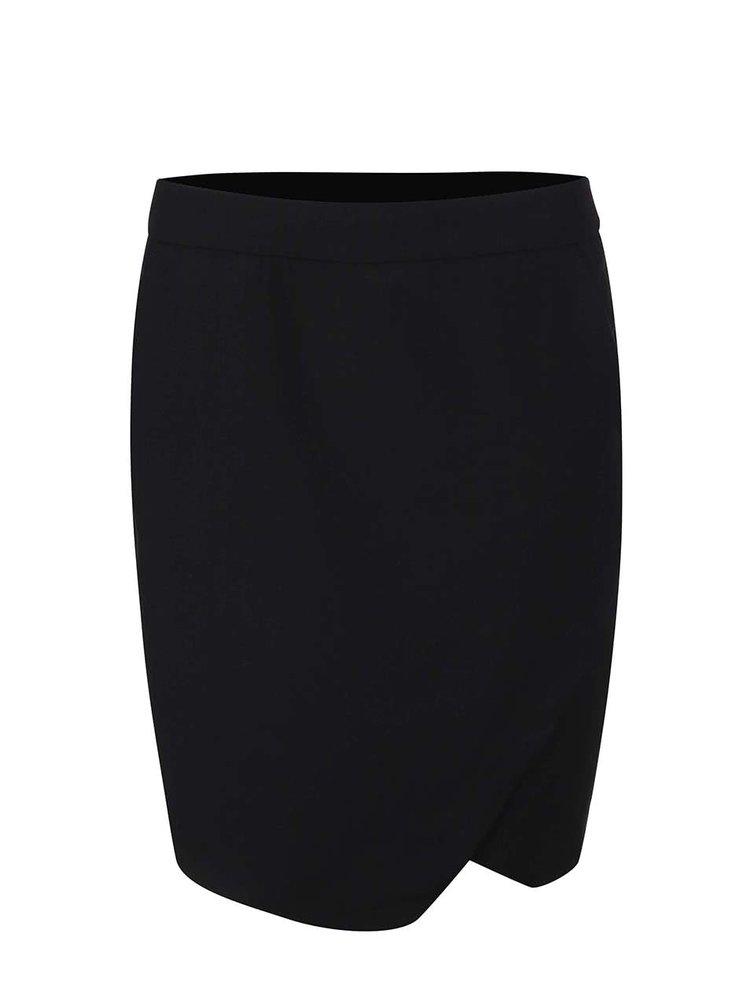 Čierna puzdrová sukňa s rozparkom VERO MODA Roro