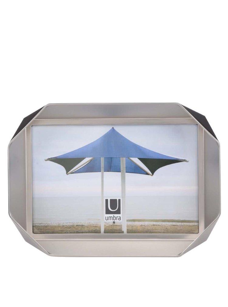 Foto rámik v striebornej farbe Umbra Nickel
