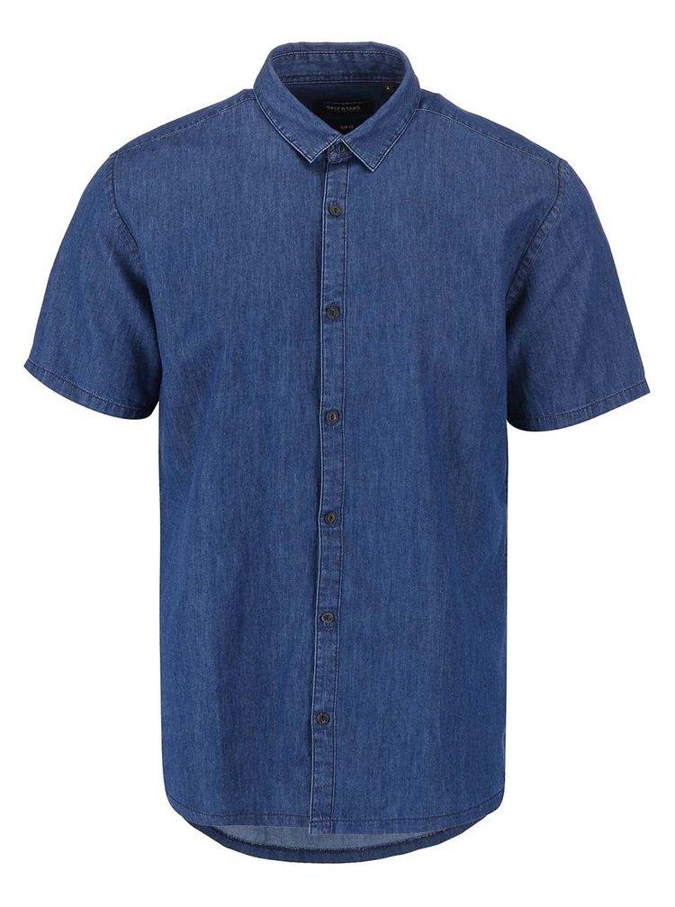 Modrá rifľová košeľa s krátkym rukávom ONLY & SONS Adan