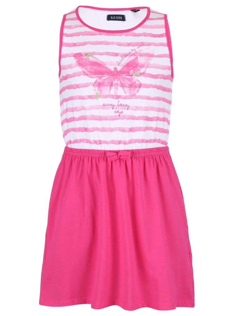 86c87811faa6 ... Bielo-ružové dievčenské šaty s potlačou motýľa Blue Seven
