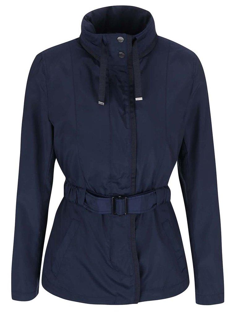 Modrý kabát s opaskom Geox
