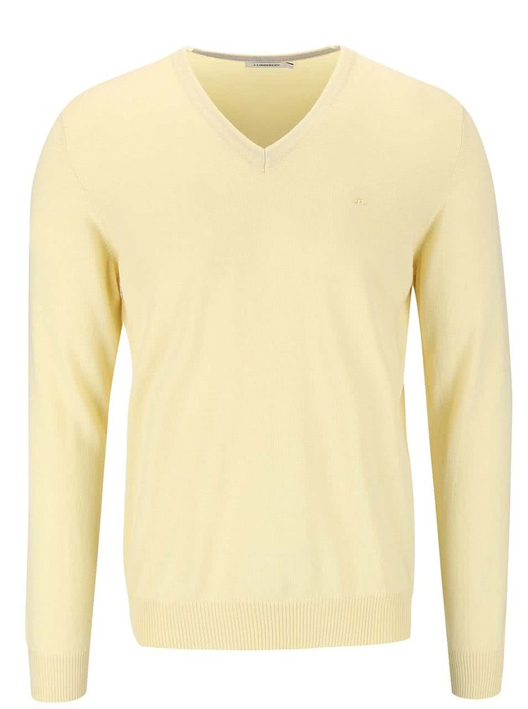 Bluză J. Lindeberg Lyman galben, din lână merino