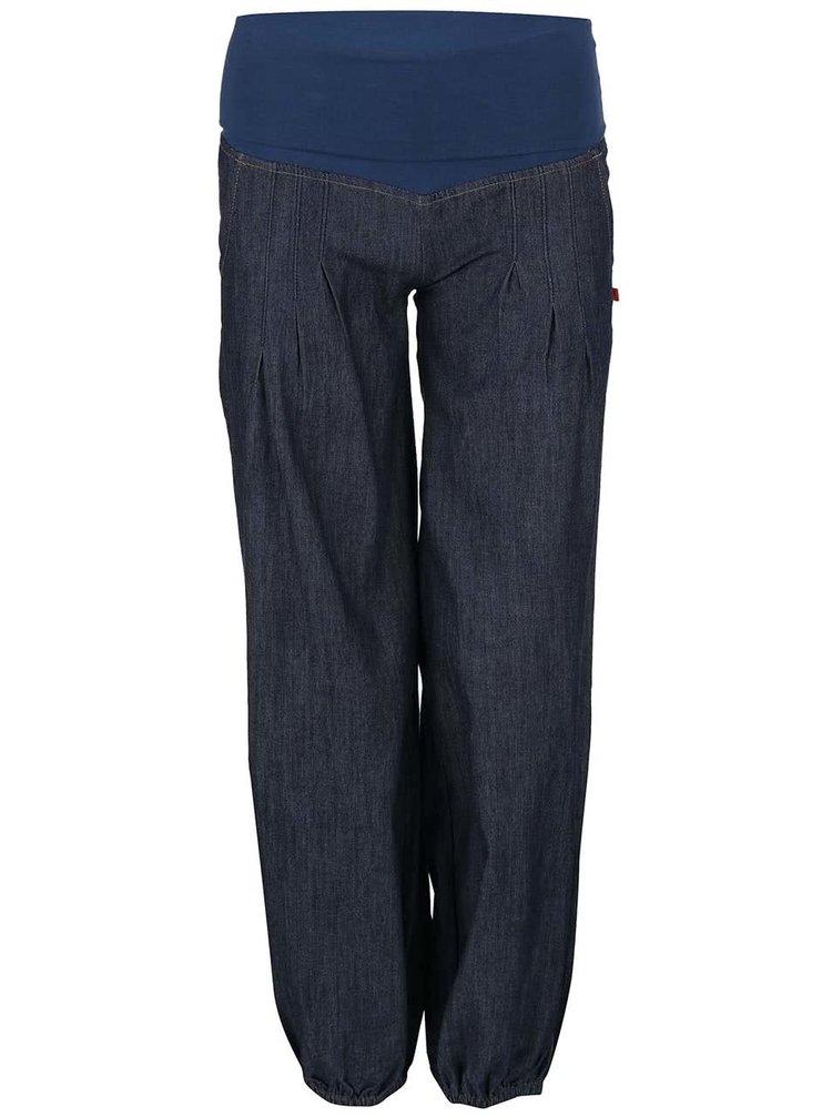 Modré denimové kalhoty s látkou v pase Tranquillo Belou