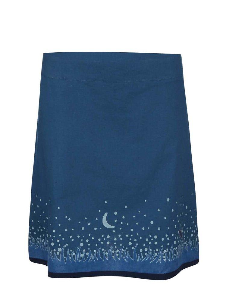 Fustă Tranquillo Savanna albastră cu imprimeu