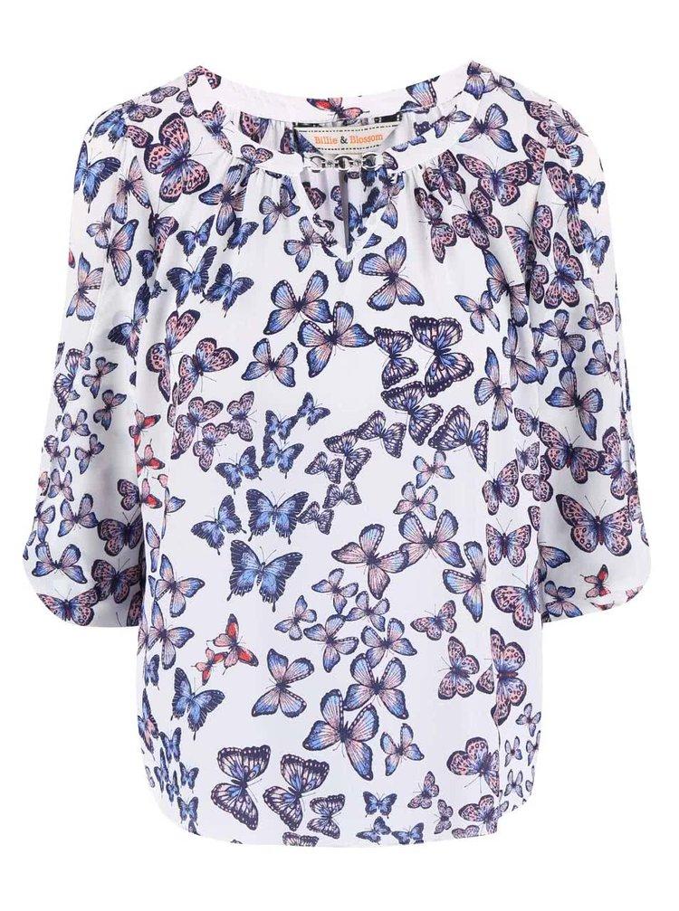 Bluză Dorothy Perkins albă cu fluturi