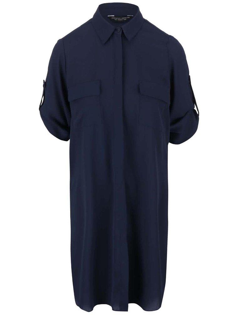Modrá dlhá košeľa Dorothy Perkins