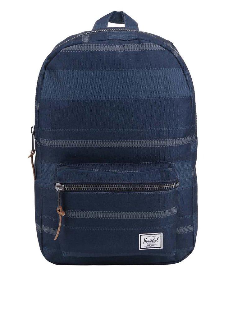 Modrý batoh se vzorem Herschel Settlement Mid-Volume