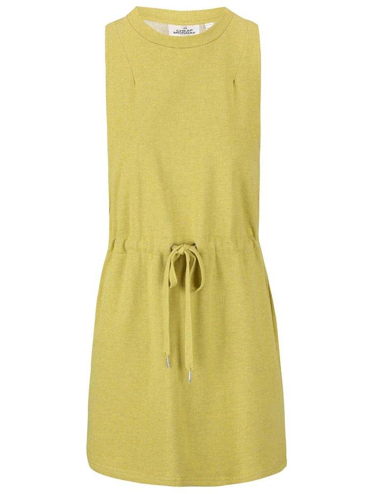 Zelenožluté mikinové šaty Cheap Monday Fuel
