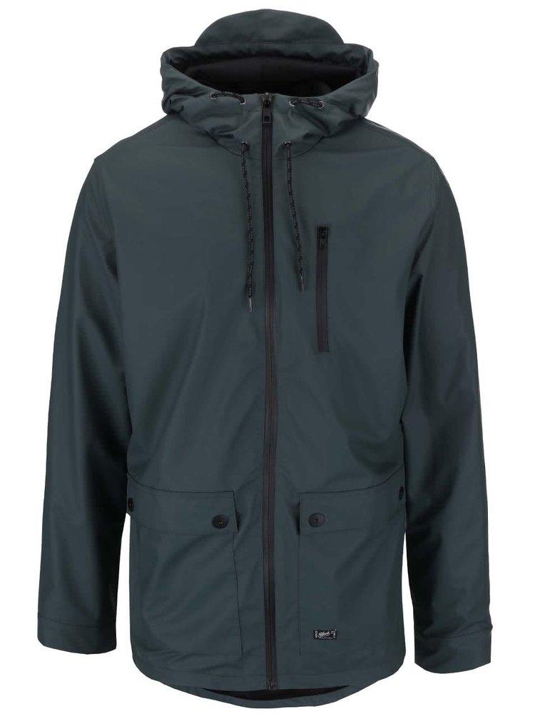 Zelená nepremokavá bunda s kapucňou Blend