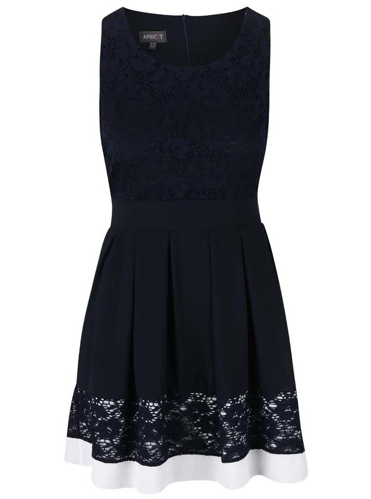 Tmavě modré šaty s šifónovou sukní Apricot