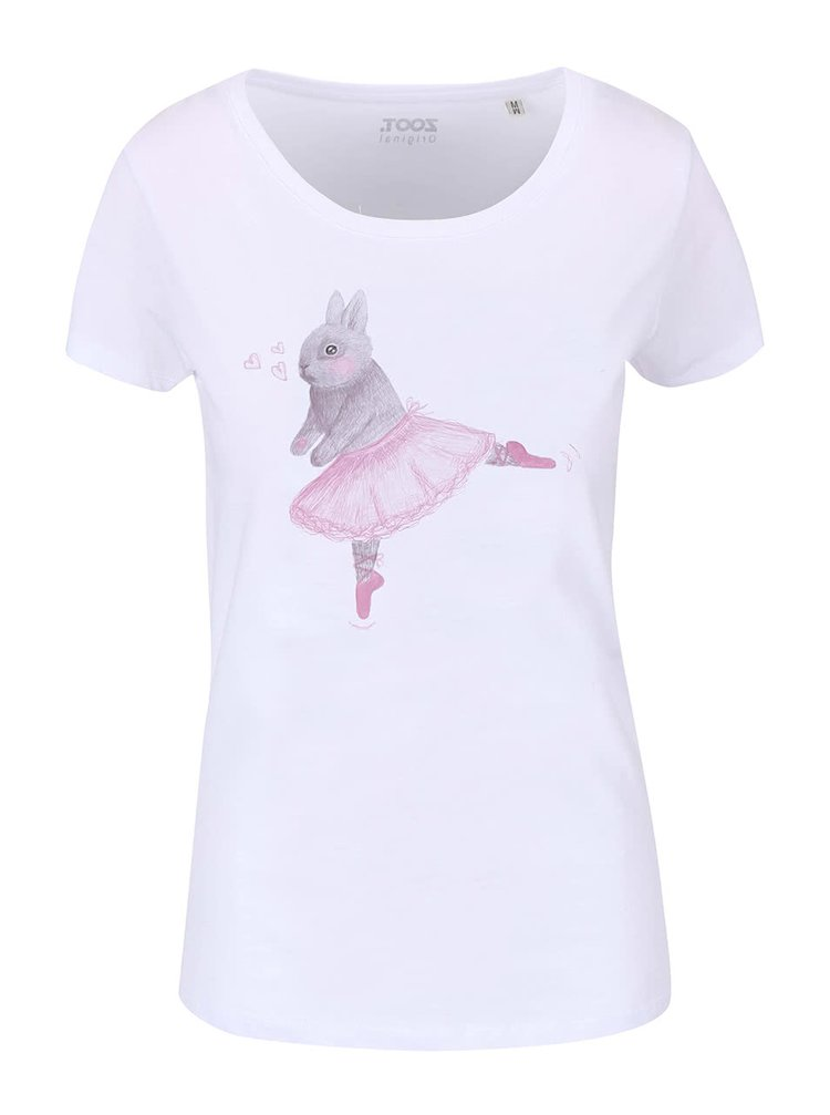 Biele dámske tričko ZOOT Originál Bunny