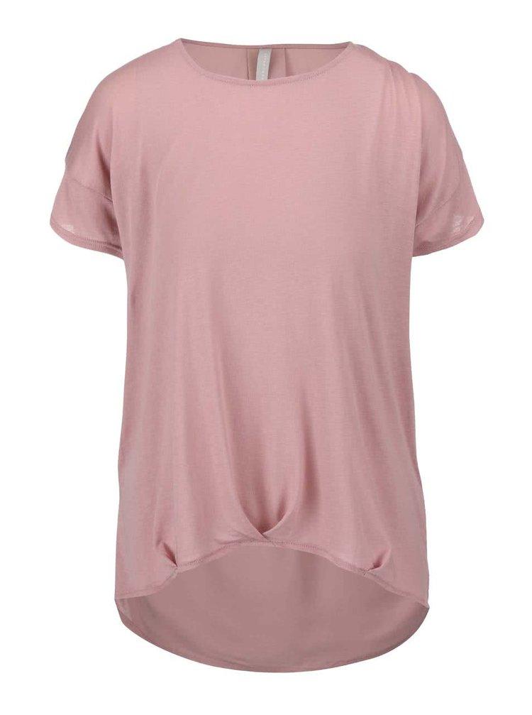 Růžový top s prodlouženými zády YAYA