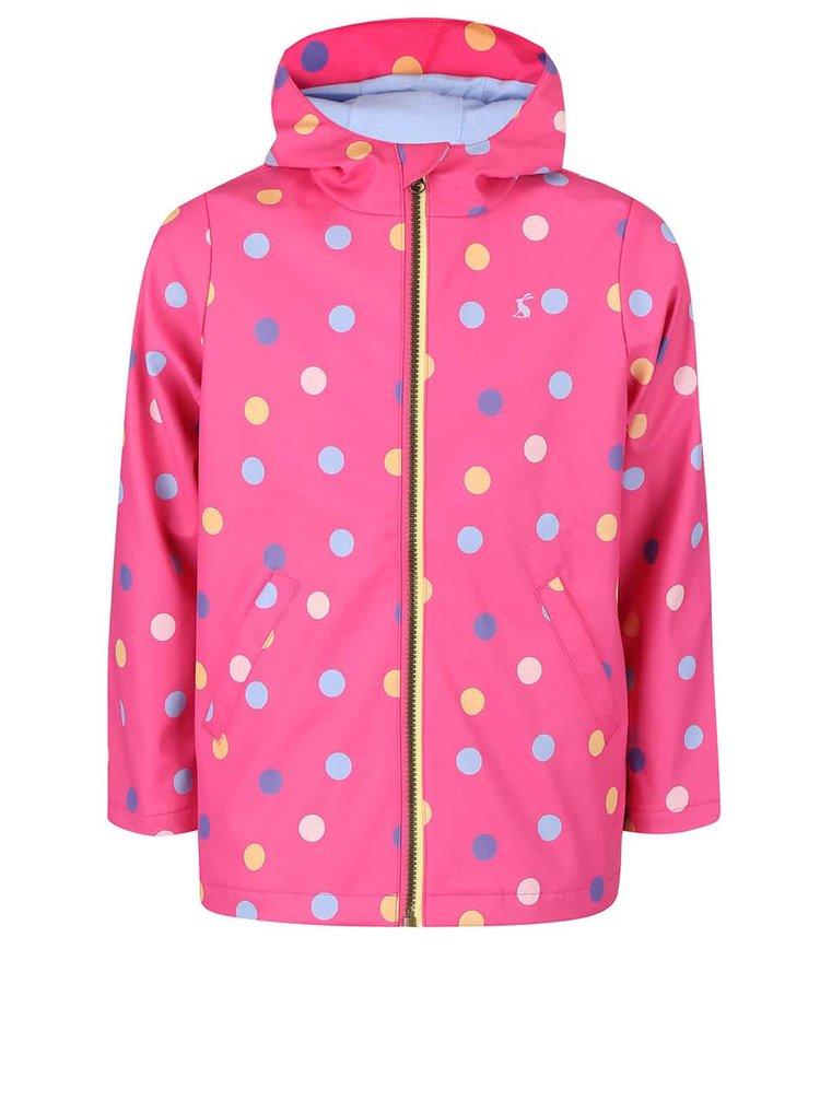 Ružová dievčenská nepremokavá bunda s gombíkmi Tom Joule