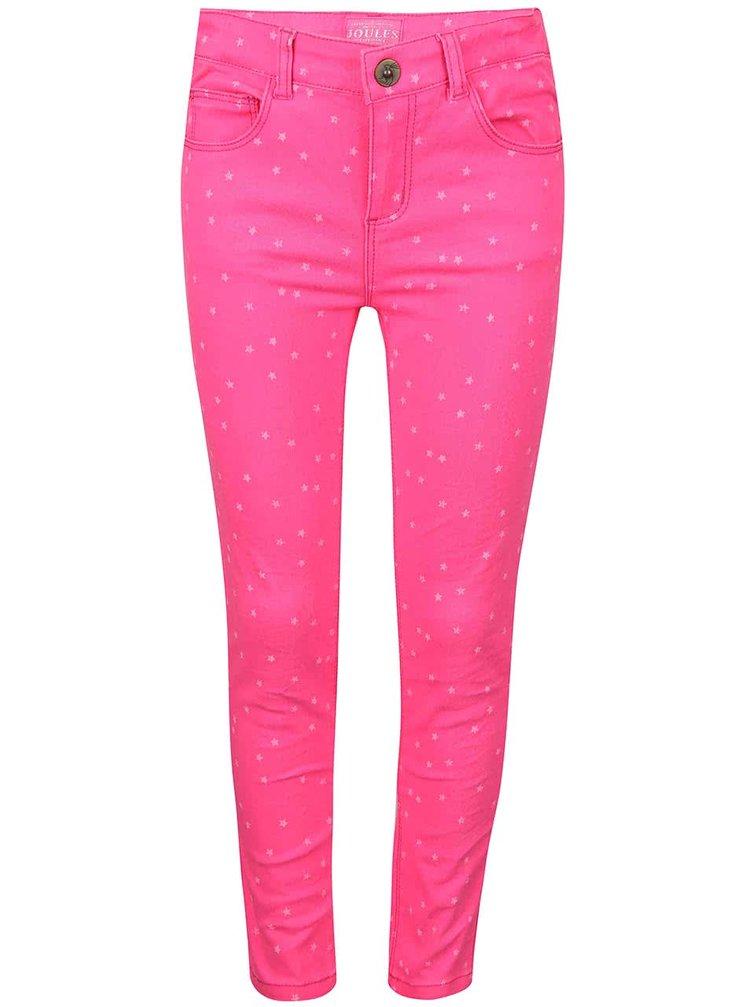 Růžové holčičí kalhoty s potiskem hvězd Tom Joule