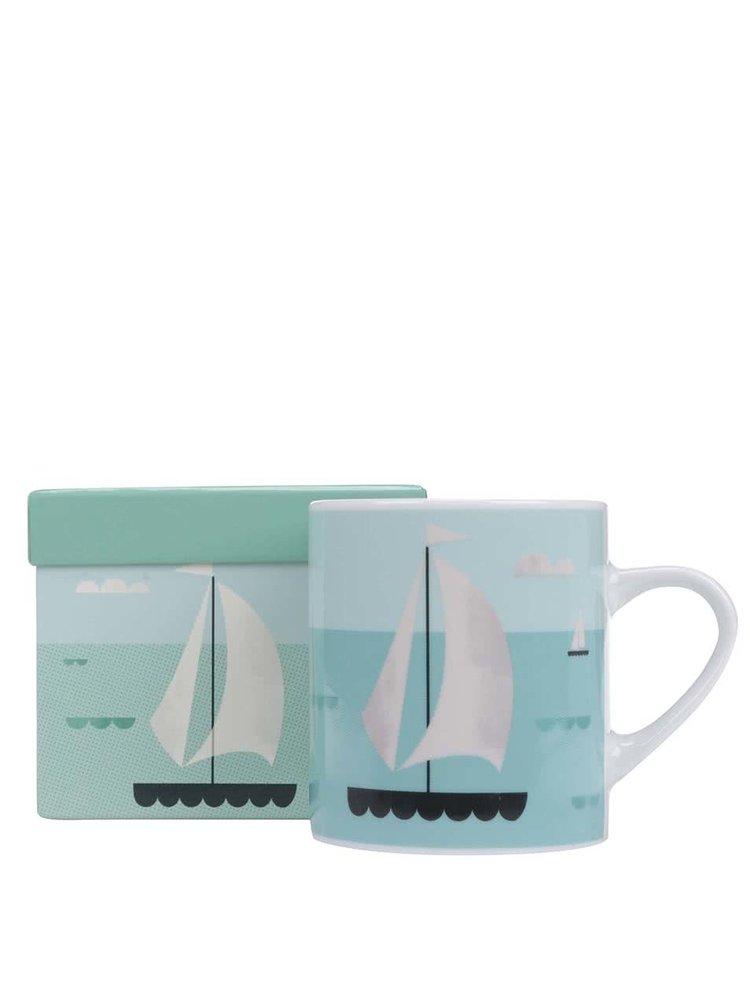 Cană de porțelan și cutie cadou, Magpie Sailboat Ahoy!