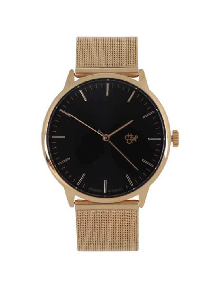 Unisex hodinky ve zlaté barvě s nerezovým páskem CHPO Nando Gold