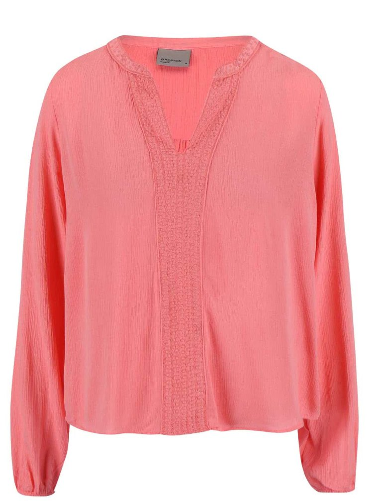 Bluză roz VERO MODA Marie